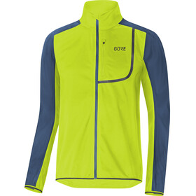 GORE WEAR C3 Gore Windstopper Jacket Men citrus green/deep water blue